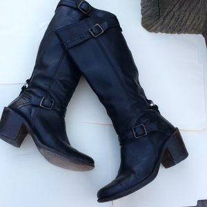 Frye Black Leather Tall boots